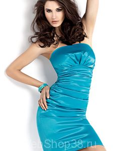 Бирюзовое платье бюстье