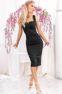 Идеальное элегантное черное платье футляр